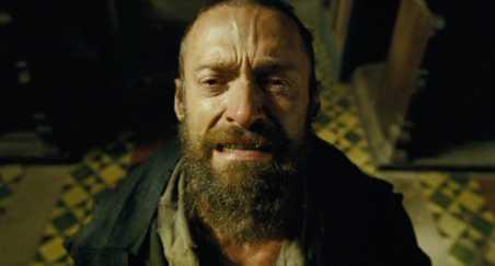 il volto di Hugh Jackman nei Miserabili di Tom Hooper melodramma cantato dai tratti espressionisti rossella farinotti labrouge