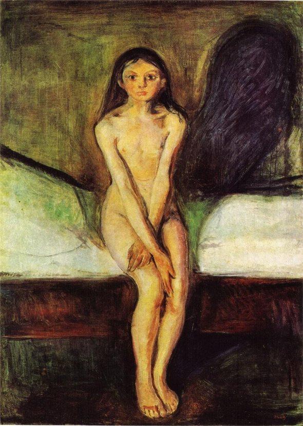 Puberty Edward Munch rossella farinotti lòabrouge