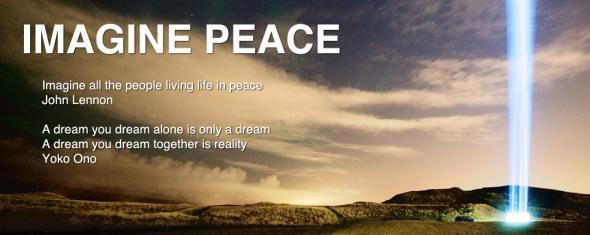 IMAGINE PEACE Jhon Lennon Yoko Ono
