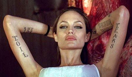 Educazione Siberiana e del tatuaggio ,Angelina Jolie il tattoo nel cinema labrouge