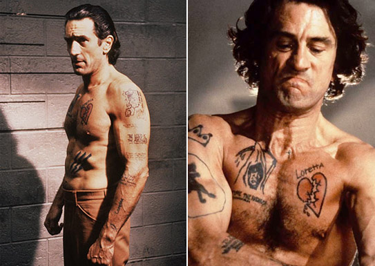 Educazione Siberiana e del tatuaggio, Capefear Robert De Niro il tattoo nel cinema labrouge