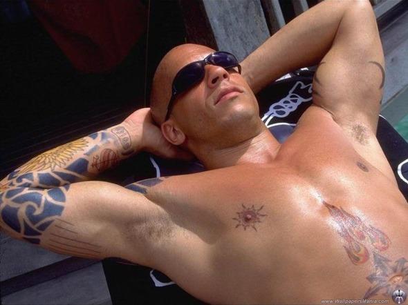 Educazione Siberiana e del tatuaggio, Vin Diesel  l'arte del tattoo nel cinema labrouge