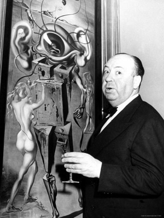 Alfred-Hitchcock-by-Salvadore-Dali-s- dal cinema all arte labrouge