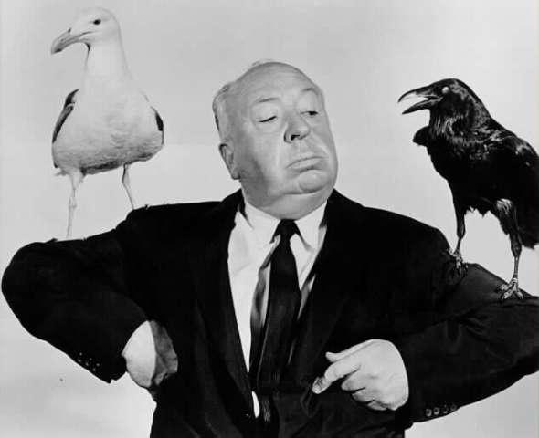 alfred-hitchcock dal grande schermo al museo ritratto con uccelli labrouge