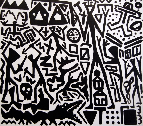 All black A.R. Penck labrouge