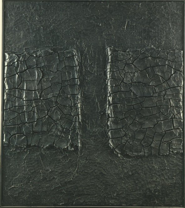 all black burri_-_nero_cretto_1974 labrouge