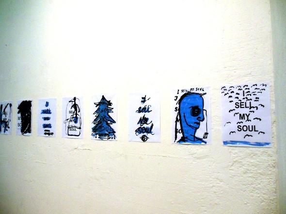 Thomas Berra & Monika Grycko disegni e sculture alla galleria  Bianca Maria Rizzi e Matthias Ritter via Cadolini milano labrouge