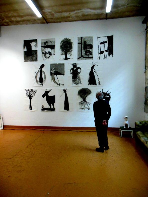 Thomas Berra & Monika Grycko disegni e sculture bipersonale galleria  Bianca Maria Rizzi e Mathias Ritter via Cadolini labrouge