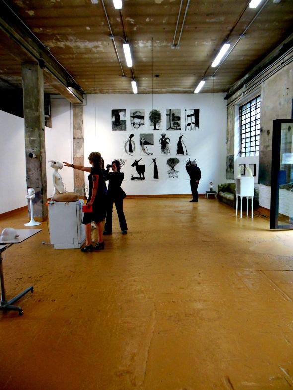 Thomas Berra & Monika Grycko disegni sculture galleria  Bianca Maria Rizzi e Matthias Ritter via Cadolini  labrouge