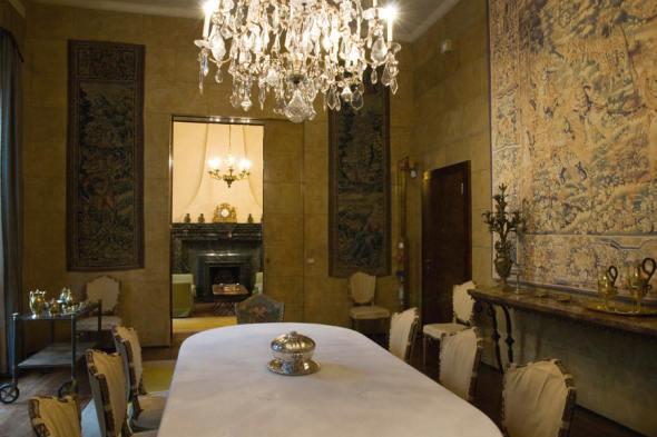 villa necchi campiglio Milano via Mozart FAI la sala da pranzo labrouge