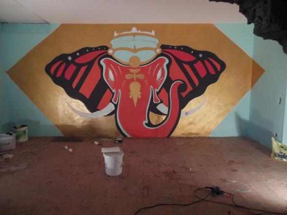 lam l'arte della memoria Lugano villa Ambrosetti elephant basement