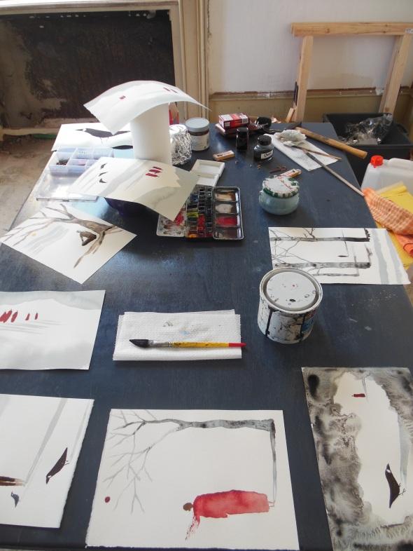 lam l'arte della memoria Lugano villa Ambrosetti work in progress magrin