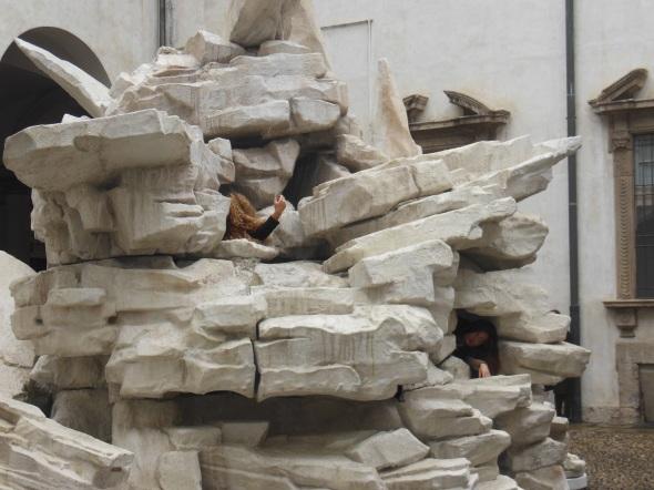 sentiments and sediments detail fault lines allora & calzadilla palazzo cusani fondazione trussardi massimiliano gioni labrouge