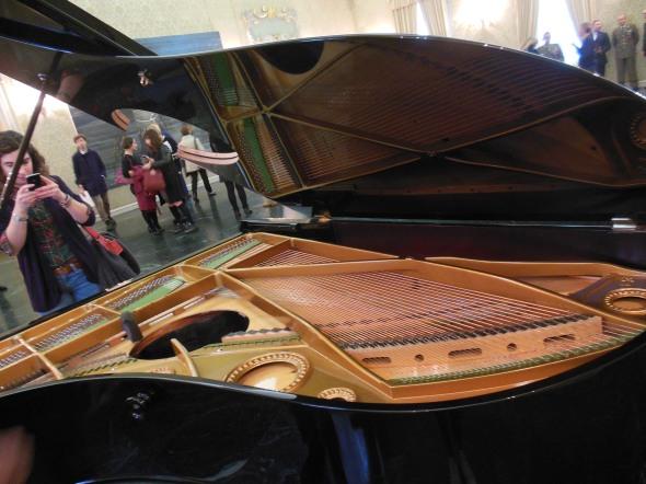 Stop, repair, Prepare variations of Ode to Joy for a prepared piano, exhibiti fault lines allora & calzadilla palazzo cusani fondazione trussardi massimiliano gioni labrouge