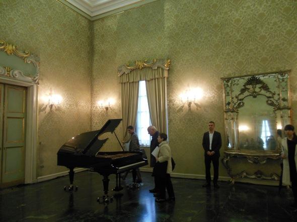 Stop, repair, Prepare variations of Ode to Joy for a prepared piano, fault lines allora & calzadilla palazzo cusani fondazione trussardi massimiliano gioni labrouge