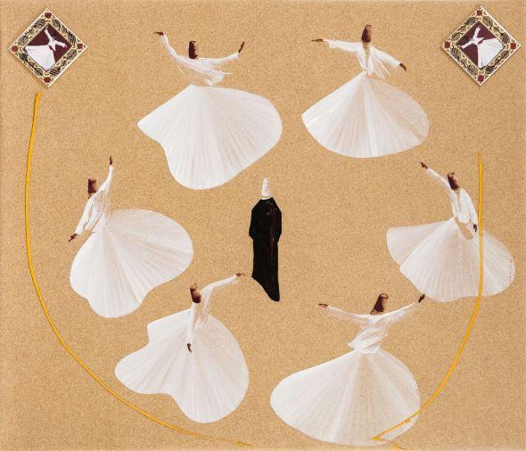 Aldo Mondino, Turcata, olio su linoleum, 120x140 cm
