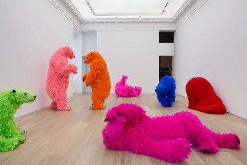 Paola Pivi a New York chez Perrotin bears solo show ok you are better than me, so what  labrouge
