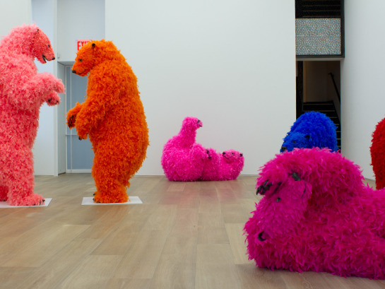 Paola Pivi personale New York chez Perrotin bears solo show ok you are better than me, so what  labrouge