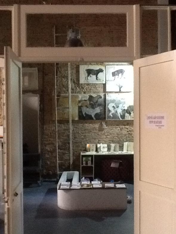spazio Tabadoul 2 e mezzo, cani  matteo zinesi, in mostra Berra e Zinesi a Tangeri manifesto spazio Tabadoul scambio labrouge