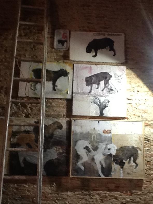 spazio Tabadoul 2 e mezzo, cani  matteo zinesi, in mostra Berra e Zinesi a Tangeri Tabadoul scambio labrouge