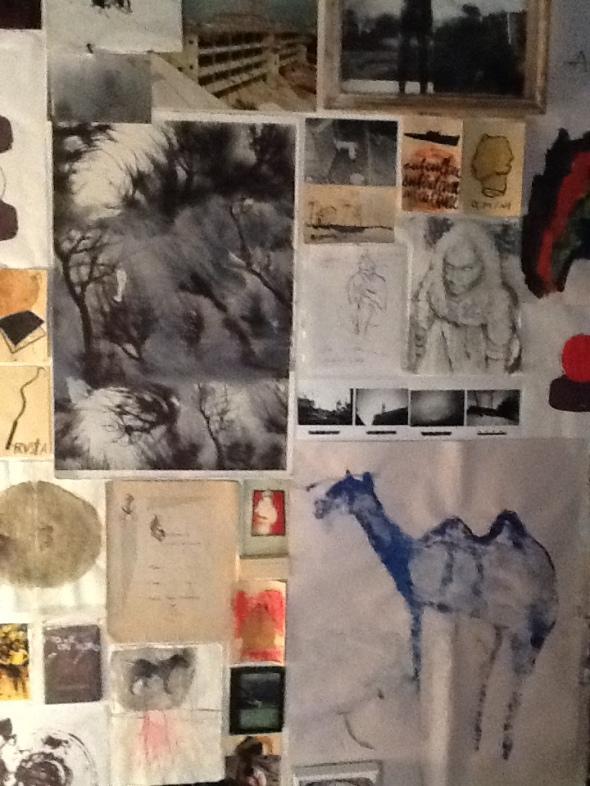spazio Tabadoul 2 e mezzo dettaglio muro, Berra e Zinesi a Tangeri spazio Tabadoul scambio labrouge