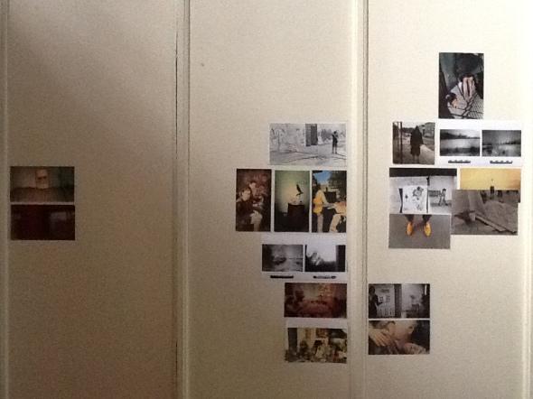 spazio Tabadoul 2 e mezzo dettaglio muro fotografie Thomas, Berra e Zinesi a Tangeri spazio Tabadoul scambio labrouge