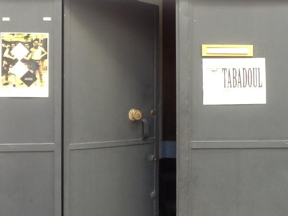 spazio Tabadoul 2 e mezzo in mostra Berra eZinesi a Tangeri manifesto spazio Tabadoul scambio labrouge