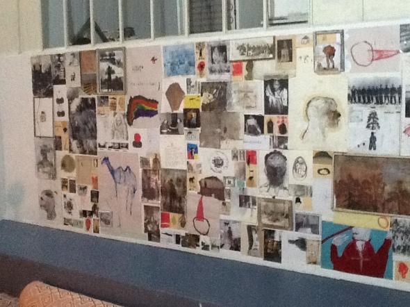 spazio Tabadoul 2 e mezzo muro, Berra e Zinesi a Tangeri spazio Tabadoul scambio labrouge
