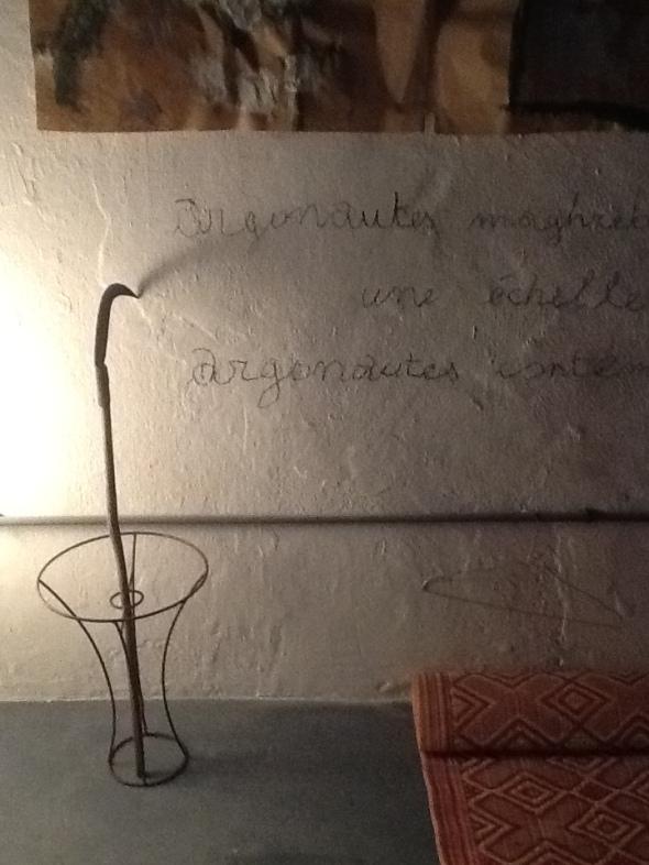 spazio Tabadoul 2 e mezzo scritta, Berra e Zinesi a Tangeri spazio Tabadoul  labrouge