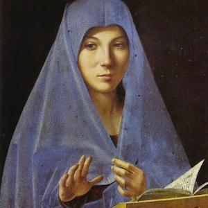 Antonello da Messina al Mart, Madonna  labrouge