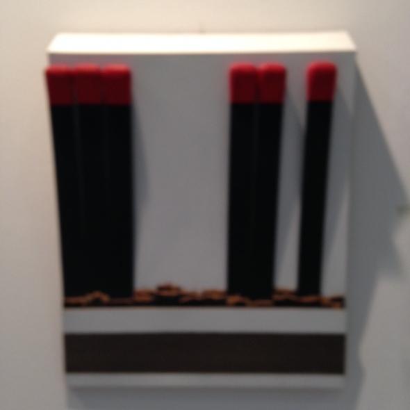 Arte fiera Bologna 2014 opere e fiera fiammiferi labrouge