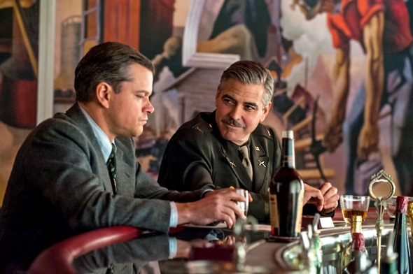 monuments men dal libro al film  Matt Damon George Clooney labrouge pino farinotti