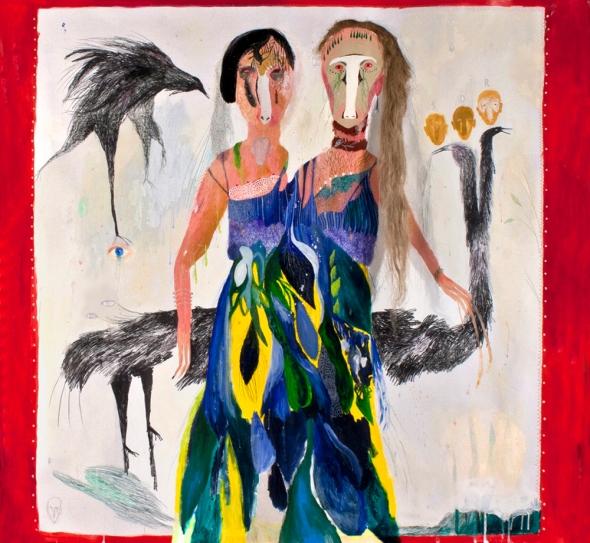 Silvia Mei, Il distacco, cm 165x150, mixed media on paper, 2013