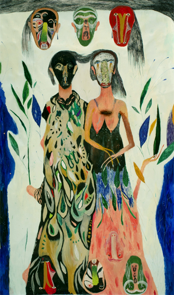 Silvia Mei, Lunghezza interna,cm241x142,mixed media on paper on canvas, 2013.