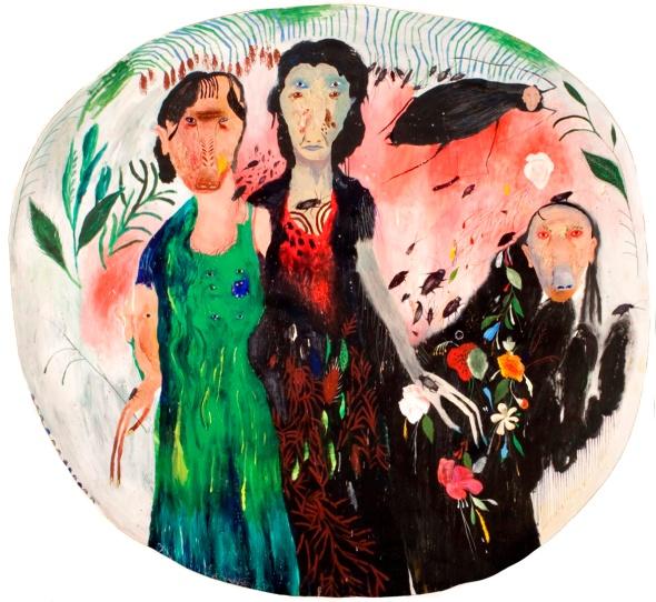 Silvia Mei, Scarafaggi, cm139,5x149,5, mixed media on paper on canvas, 2014.