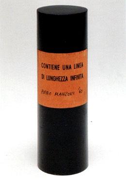 Piero Manzoni 1933-1963 a Palazzo Reale Linea scatoletta labrouge
