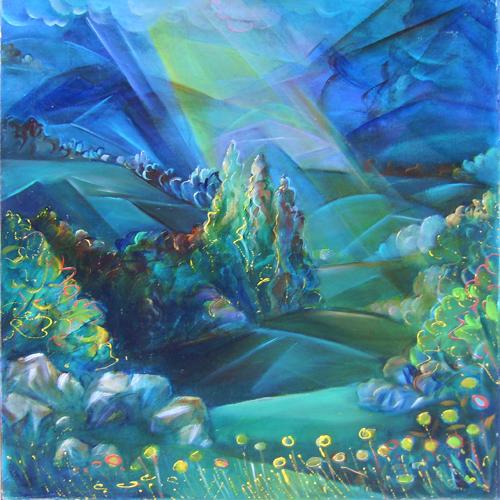 Fernando Sammarone, Concetto neofigurativo, olio su tela, cm 80x80