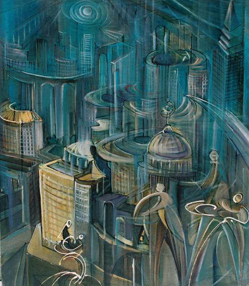 Fernando Sammarone, Dinamismo urbano, 91x78 cm
