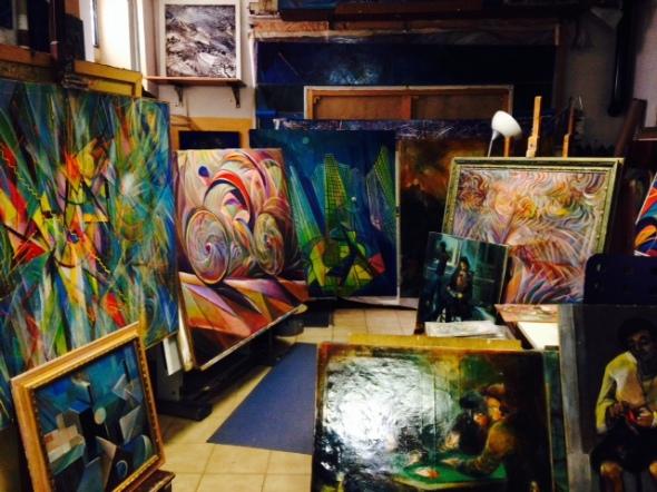 Fernando Sammarone il suo studio  via Arbe 55 Milano