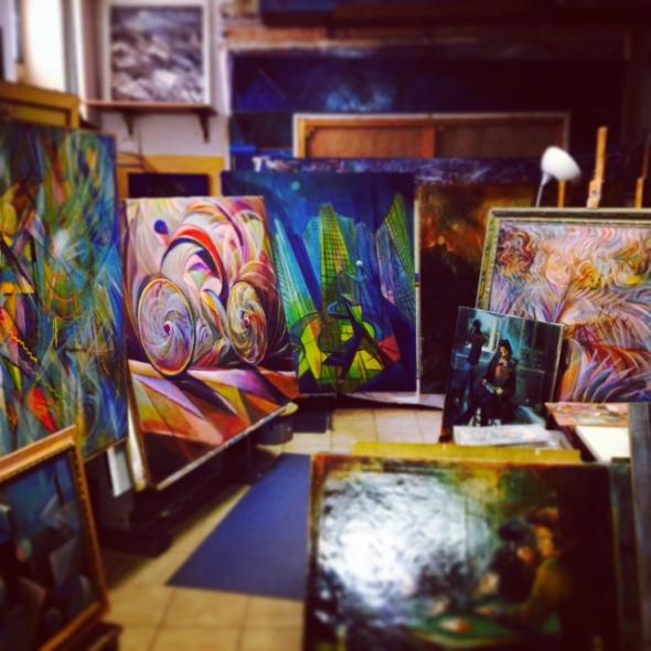 Fernando Sammarone opere in studio  via Arbe 55 Milano