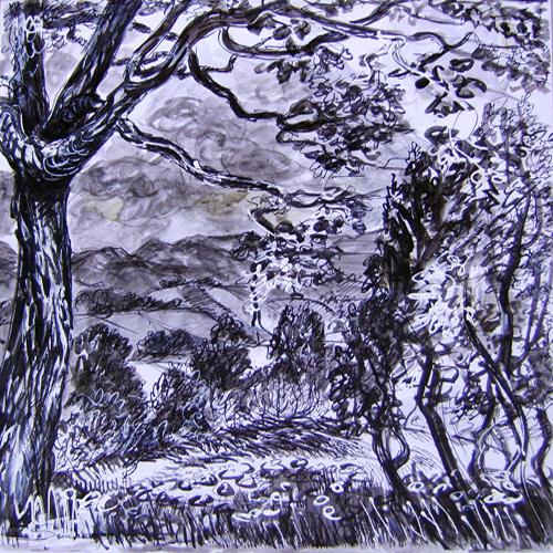 Fernando Sammarone, untitled, china su foglio A3