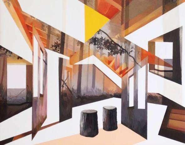 Anna Caruso, 80x100cm, acrilico su tela, 2014