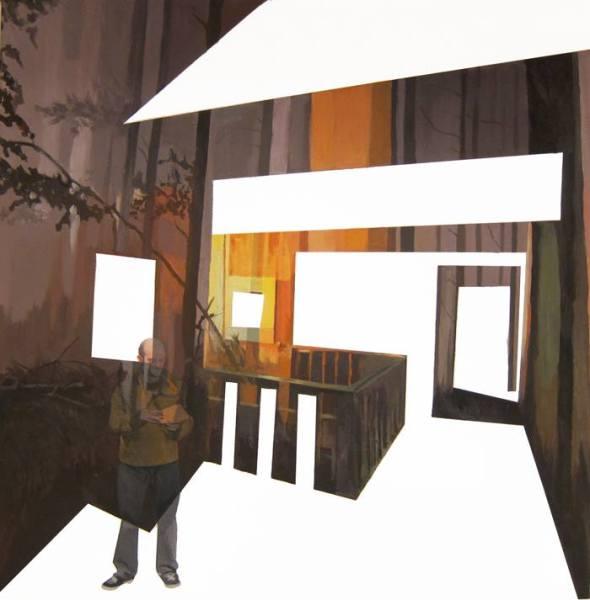 Anna Caruso, il gioco perduto, 50x50cm, acrilico su tela, 2014