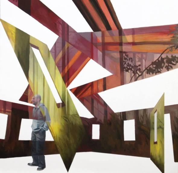 Anna Caruso, senza titolo, 50x50cm, acrilico su tela, 2014