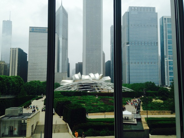 Art Institute Chicago, from renzo Piano building
