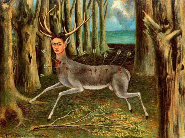 Contemporary art after Frida Kahlo la Venadita herida MAC Chicago labrouge