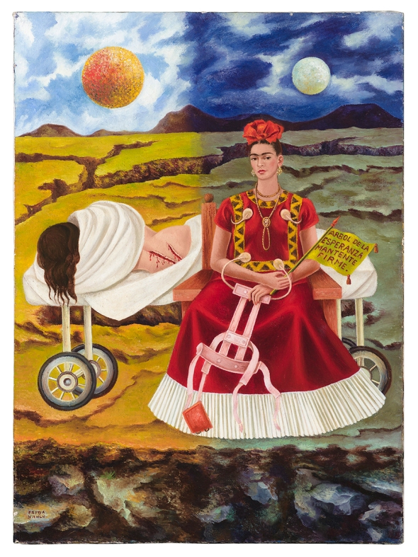 Contemporary art after Frida Kahlo two fridas MAC Chicago labrouge