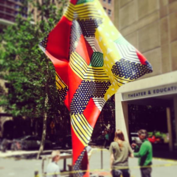 ynka shonibare work in progress @ Mca Chicago 3 wind sculptures Chicago labrouge
