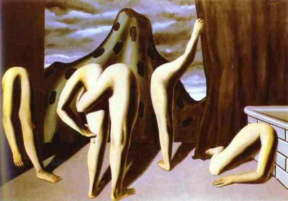 Rene Magritte, entre act,  The Mystery of the Ordinary 1926-1938 The Art Institute of Chicago, labrouge egg and bird