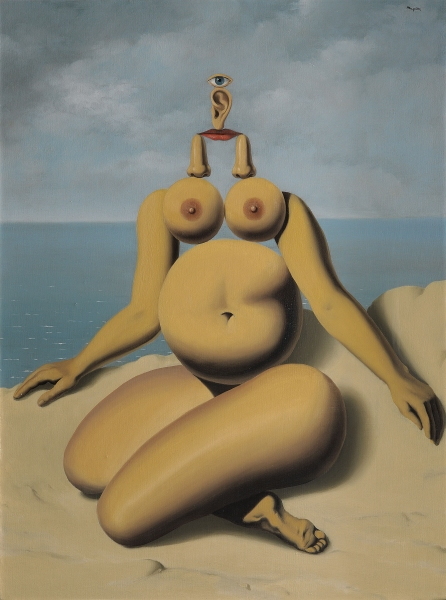 Rene Magritte, Nude,  The Mystery of the Ordinary 1926-1938 The Art Institute of Chicago, labrouge egg and bird